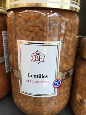 LENTILLES A LA GRAISSE D'OIE
